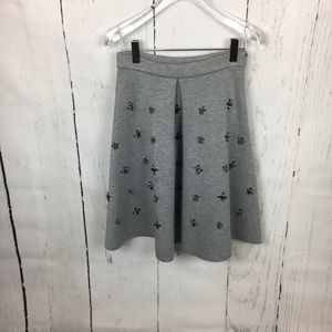 H&M gemstone accent midi skirt